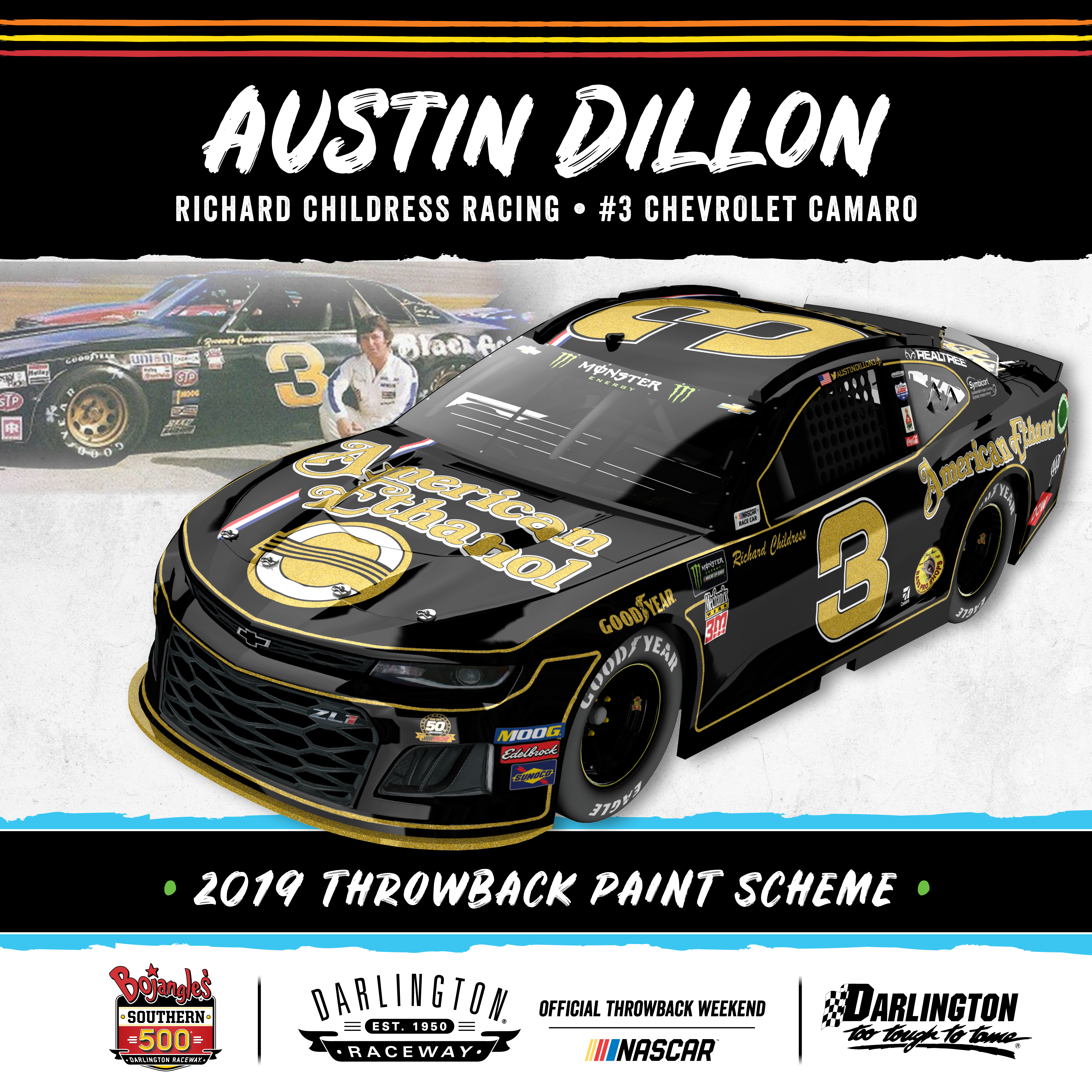 American Ethanol Unveils 2019 Darlington Throwback Paint